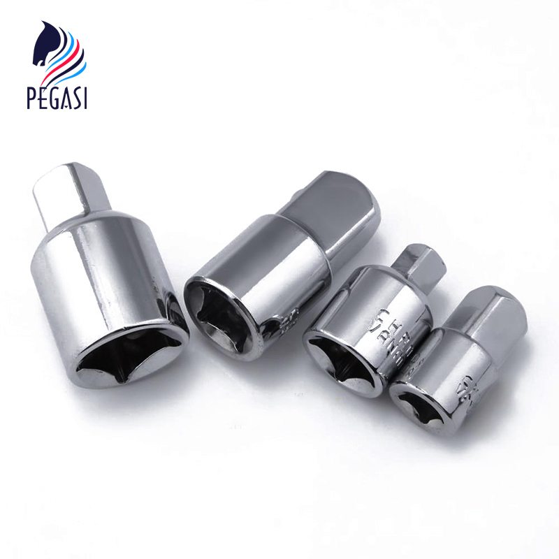 PEGASI 4pcs 1/2 1/4 3/8 Silver Ratchet Socket Adapter Chrome Vanadium Steel Ratchet Socket Adapter Reducers Converter SetPEGASI 4pcs 1/2 1/4 3/8 Silver Ratchet Socket Adapter Chrome Vanadium Steel Ratchet Socket Adapter Reducers Converter Set