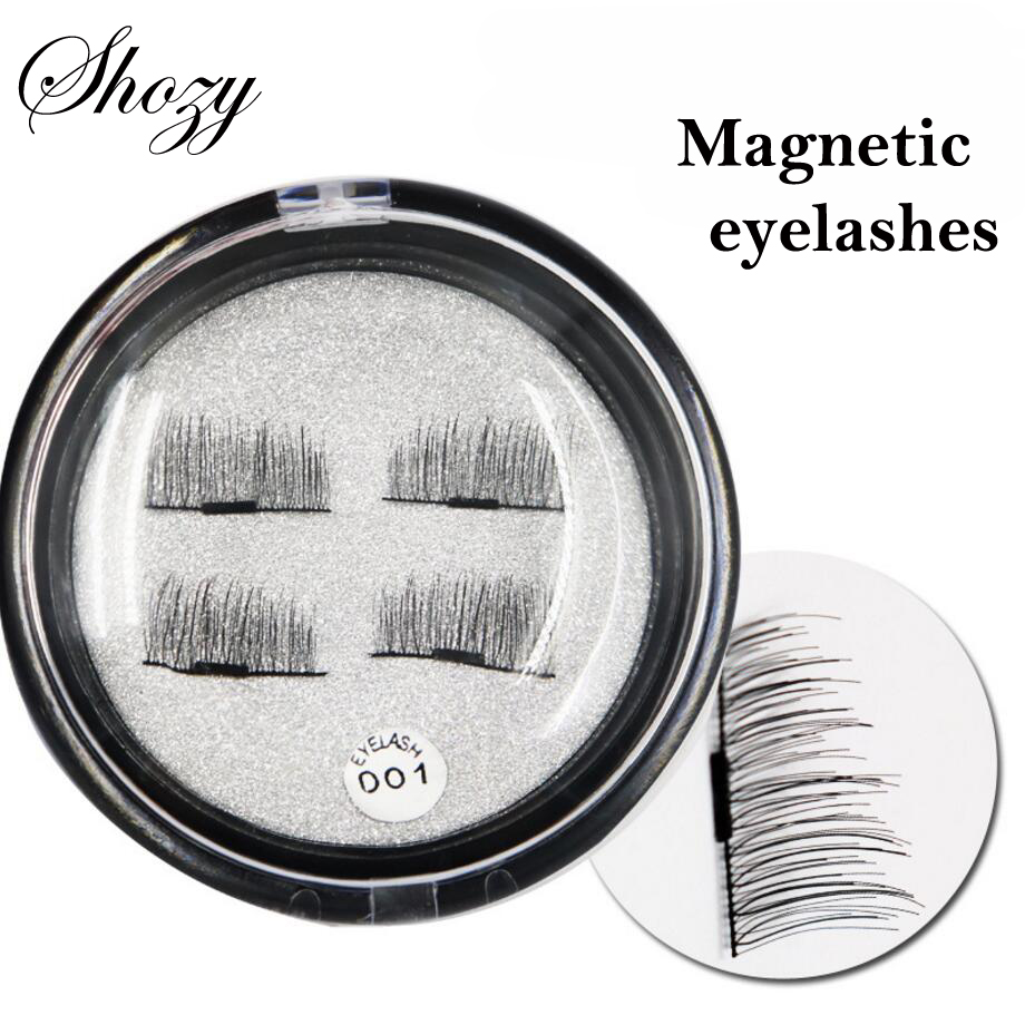Shozy 4 Pcs/Pair Convenient Magnetic Eyelashes Extention Eye Makeup Accessories Soft Hair False Eyelashes Fake lashes-ECT001