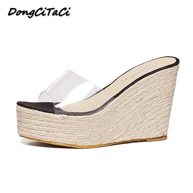 Fondo Mujer 2018 Verano De Dongcitaci Zapatillas Cuña Sandalias Grueso Zapatos 2D9bWHYeEI
