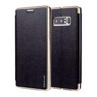 For Galaxy Note 8 Case Luxury PU Leather PC Edge Folio Flip Magnetic Book Case Cover