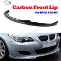 HA Style E60 Carbon Fiber Front Bumper Lip For BMW E60 M5  Bumper 2006 2007 2008 2009 2010 Auto car front diffuse Spoiler