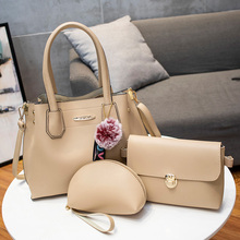 Vintage Women Bag Composite Handbags 3PCS/Set PU Leather Female Shoulder Bags Brand Designer Ladies Messenger Casual Tote