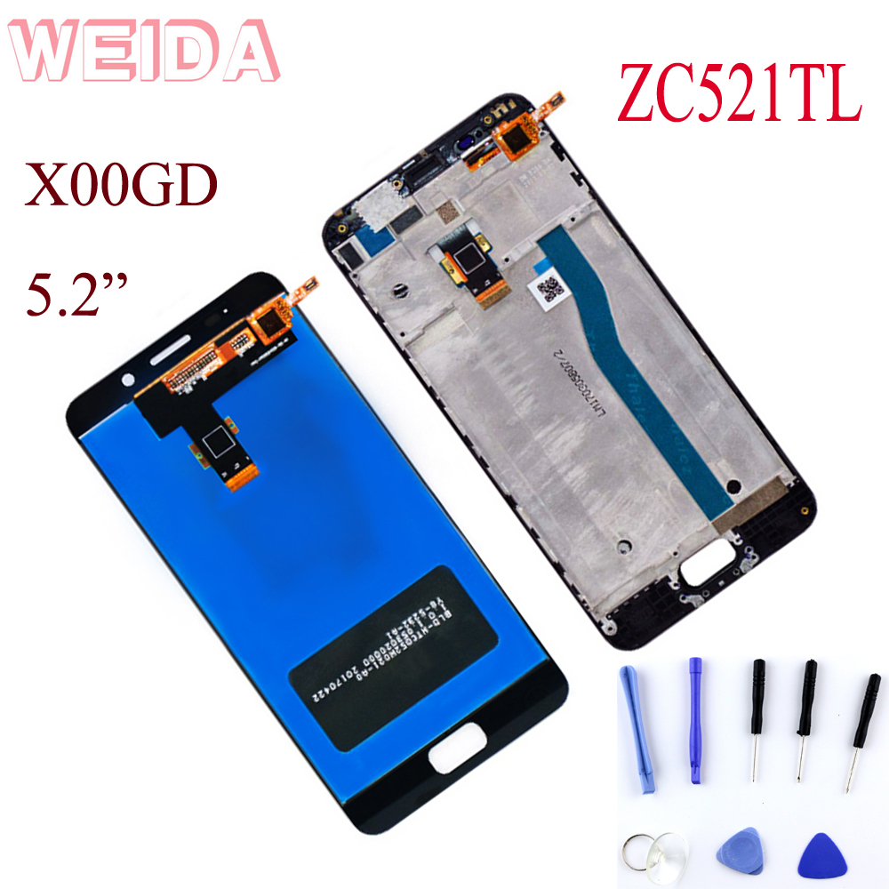 WEIDA For <font><b>ASUS</b></font> Pegasus Zenfone <font><b>3S</b></font> <font><b>Max</b></font> ZC521TL X00GD LCD Display Touch Screen Digitizer Assembly Replacement 5.2