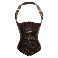 Steampunk corset leather corset korsett for women corselet plus size espartilhos corsetti e bustier corsage corselet underbust