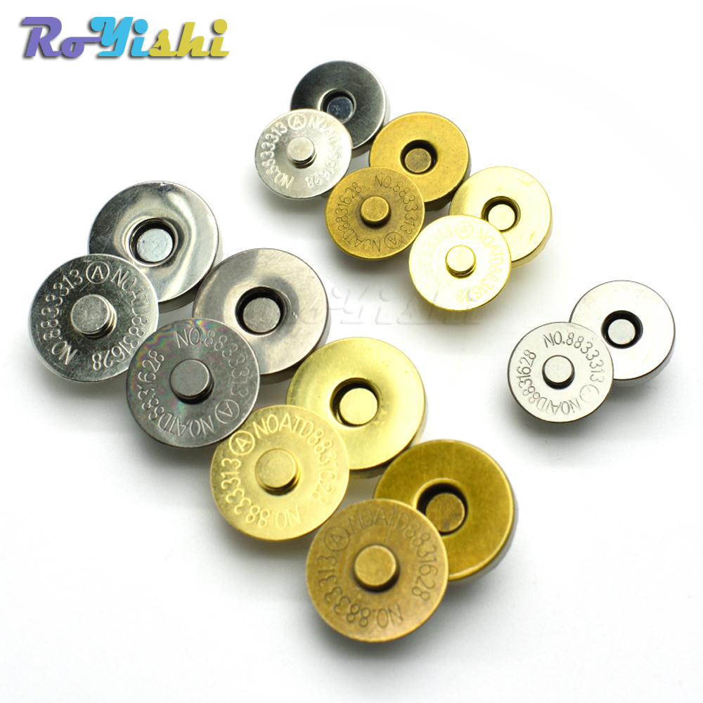 Magnetic Snap Fasteners Clasps Buttons Handbag Purse Wallet Craft Bags Parts Accessories 14mm 18mm