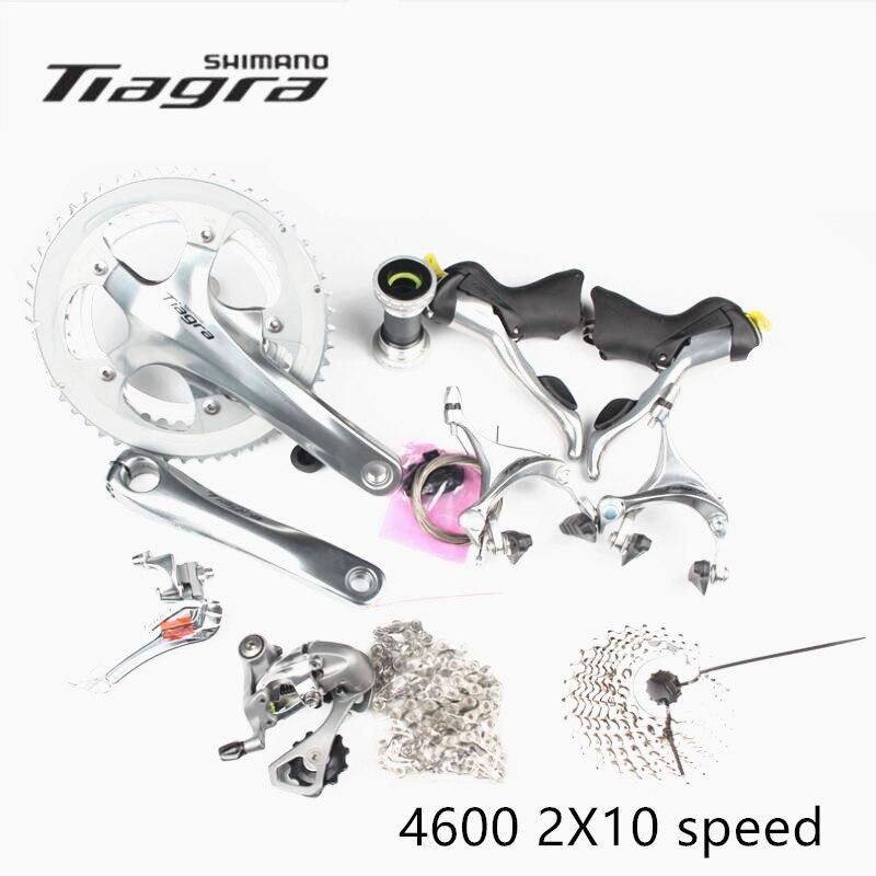Groupe Shimano TIAGRA 4600 2x10 S 20 S vitesse 165/170/172.5/175mm 52-39 T/50-34 T pour vélo de route mise à jour de vélo de 4500
