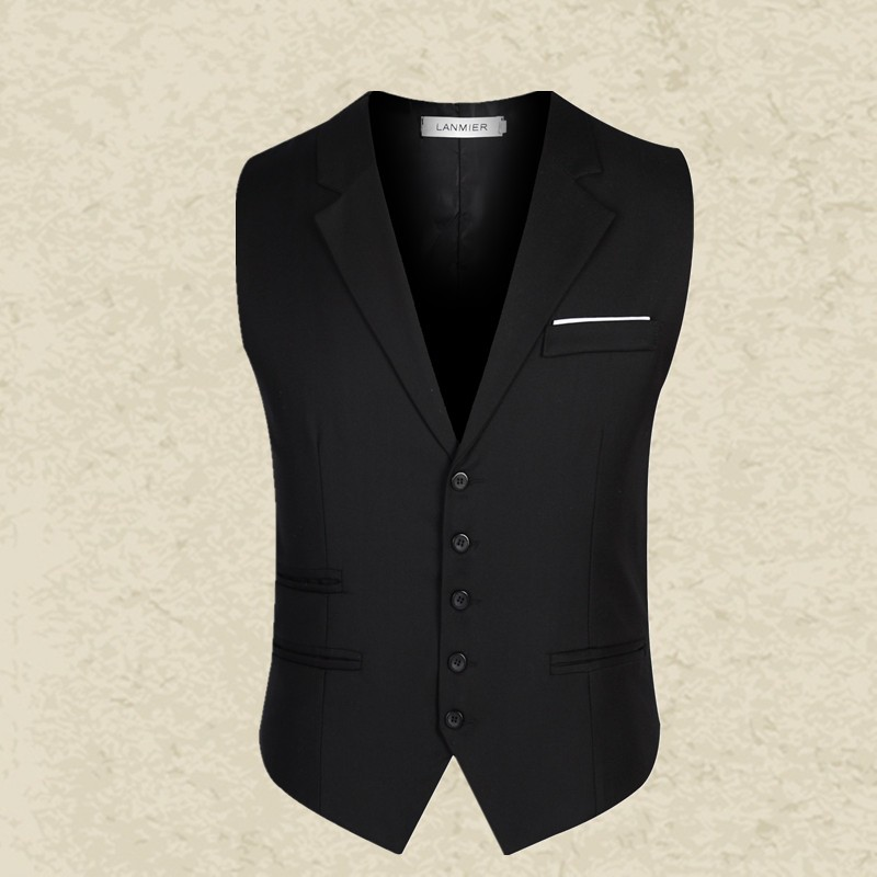 New-Brand-Clothing-Men-Vest-Black-Gray-Blazer-Collar-Sleeveless-Suit-Vests-Classic-Dress-Slim-Fit