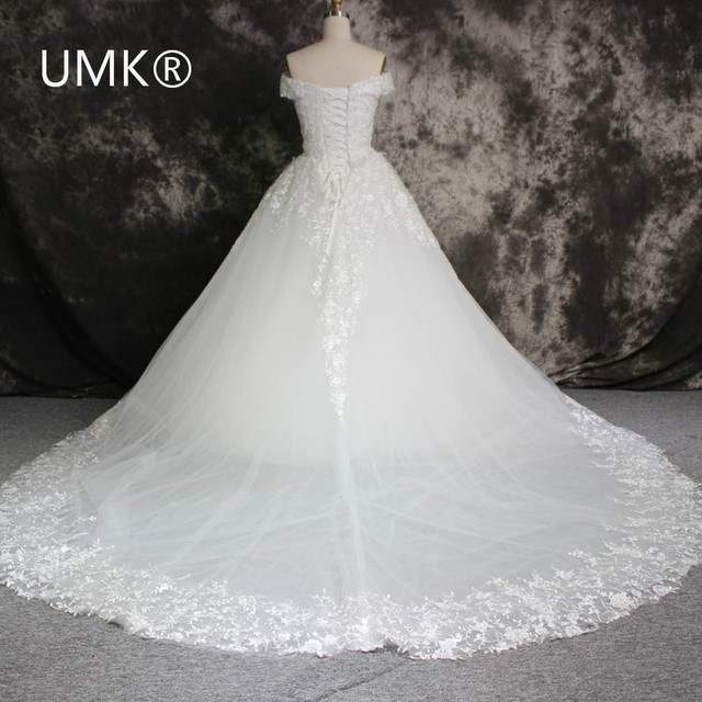 2017 Shop Online China Wedding Gowns Romantic Cap Sleeve Lace ...