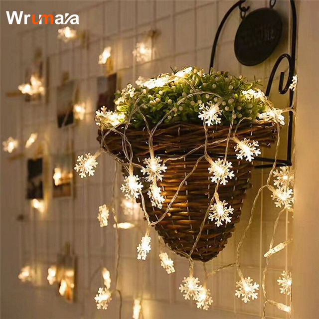 wrumava 10m 80 leds star string light christmas garland fairy garland lights aa battery powered for