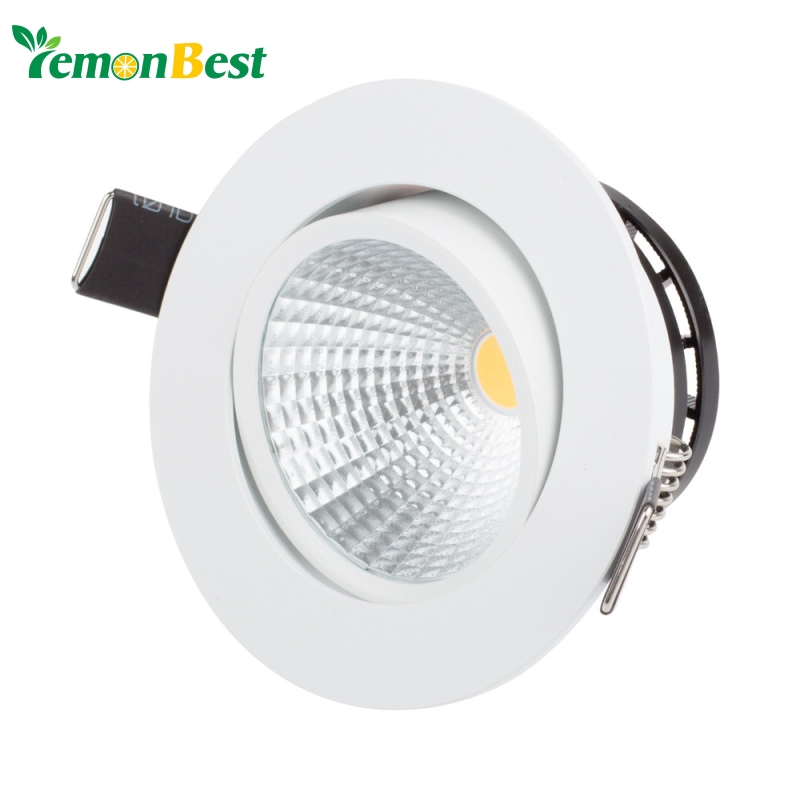buy dimmable led cob ceiling light 3w 5w 7w warm white cold white recessed led. Black Bedroom Furniture Sets. Home Design Ideas
