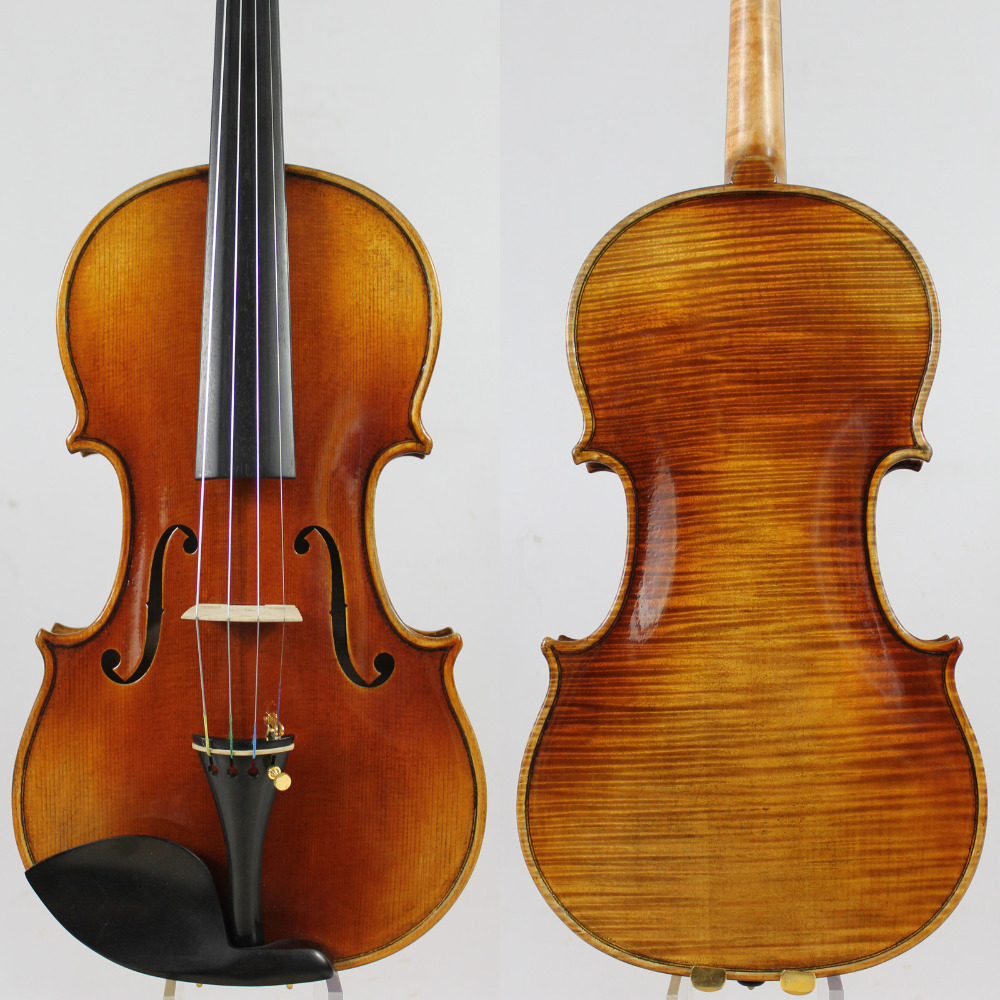 One Pc Back ! Master Violin! Antonio Stradivari 1721 The kruse Copy! 4/4 Concert  Violin,Aubert Bridge! Antiqued Oil Varnish austrian spruce ch j b collion mezin copy french master violin no 1408 nice sound antique violin100% handmade