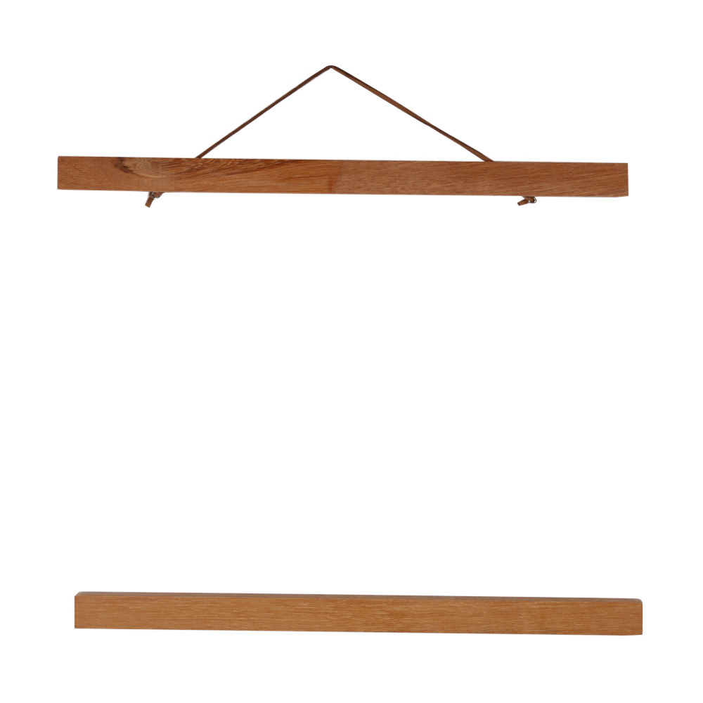 Moda DIY cartel ilustraciones percha madera de teca cartel perchas ...