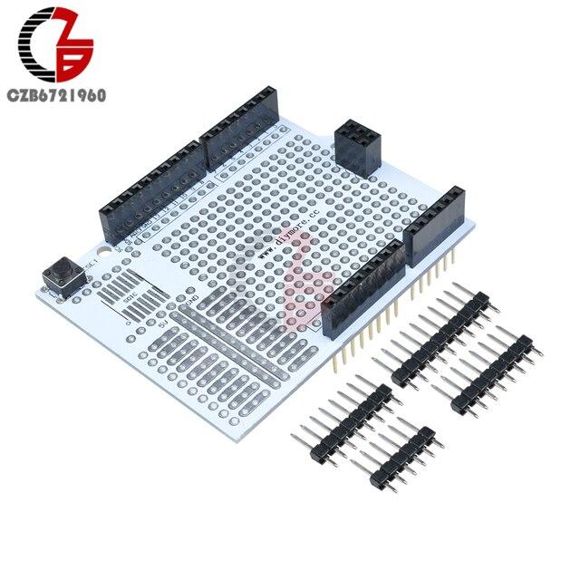 Prototype Development Board Expansion Shield PCB Bread Board Breadboard Protoshield Module for Arduino UNO R3 One Diy Kit 2.54mm