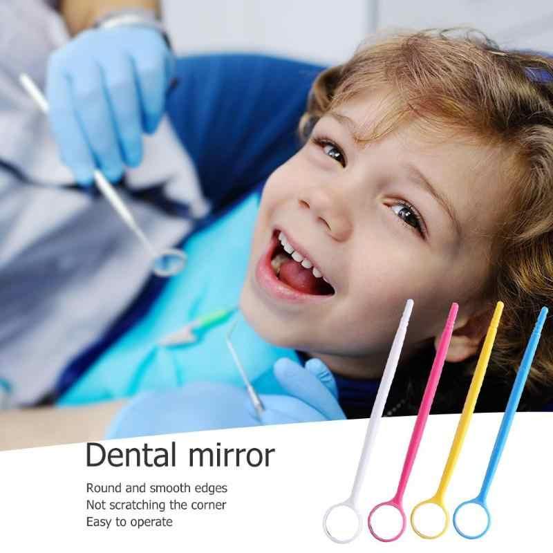 1 قطعة البلاستيك الملونة الأسنان مرآة الأسنان الأسنان odontology icos طبيب الأسنان مرآة أداة ل تبييض الأسنان العناية لون عشوائي
