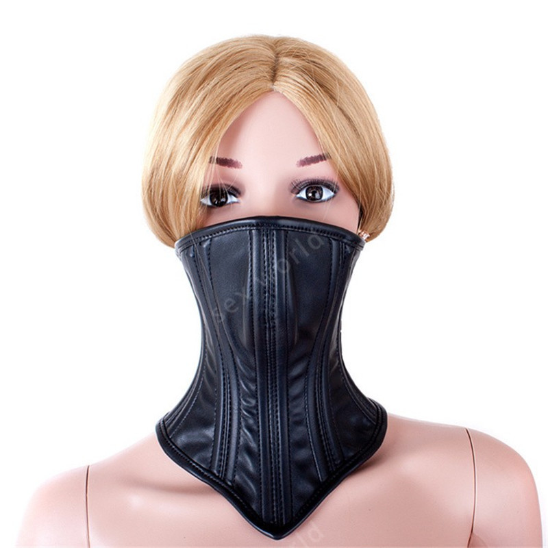 Image 5 - SM Bondage Role Play Muzzle Mouth Mask Neck Collars And Leash Fetish Choker Gear Adult Games S&M Slave Sex Toys For Couples    -