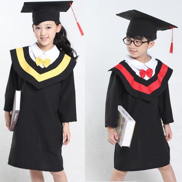 f0264d4f28 Primary School Children s Gown of Doctor Degree Kindergarten Academic Dress  with Hat University Graduation Ceremony