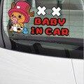 (4 unids/lote) UNA SOLA PIEZA Del Bebé en coche Lindo Chopper de dibujos animados Etiqueta Engomada Del Coche Calcomanías estilo de Alta Calidad para todos los coches Envío Gratis