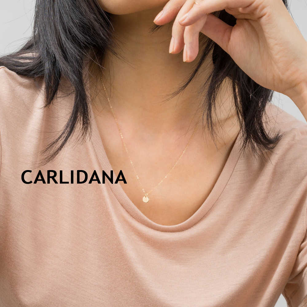 CARLIDANA statement choker necklace women korean style stainless steel necklace for women best friend necklace