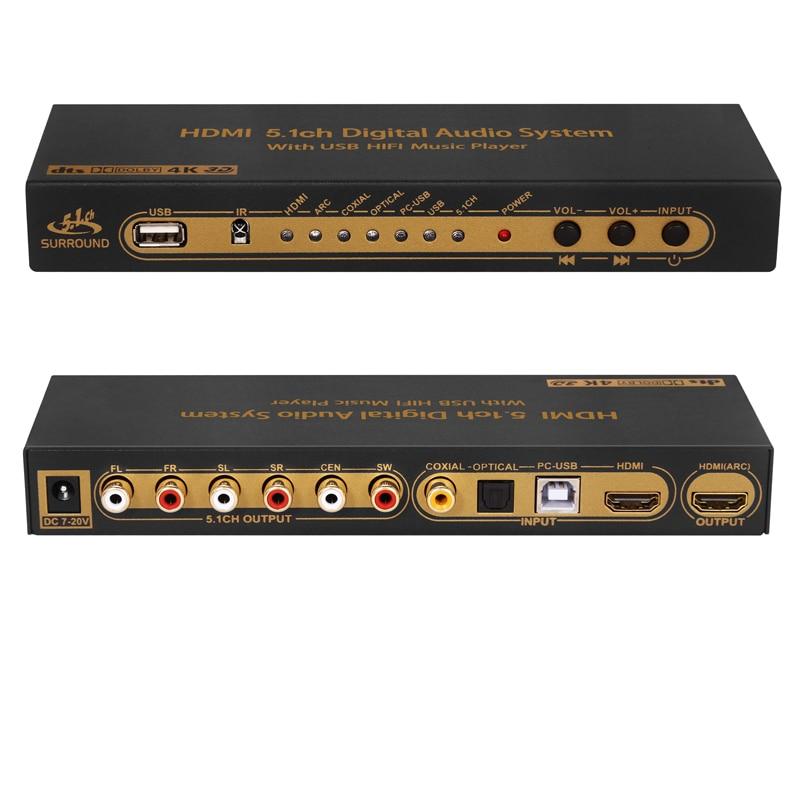 Saomai HDMI dts/Dolby 5.1 Audio Décodeur