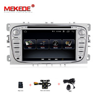 Free shipping mic map gift 2din Android8.0 Car radio gps cassette for Ford Focus Mondeo Galaxy car dvd player BT Ipod mirrorlink