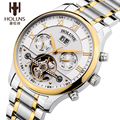HOLUNS Luxury Brand Men Stainless Steel Tourbillon Watch Date Calendar Automatic Mechanical Wristwatches Original Gift Package