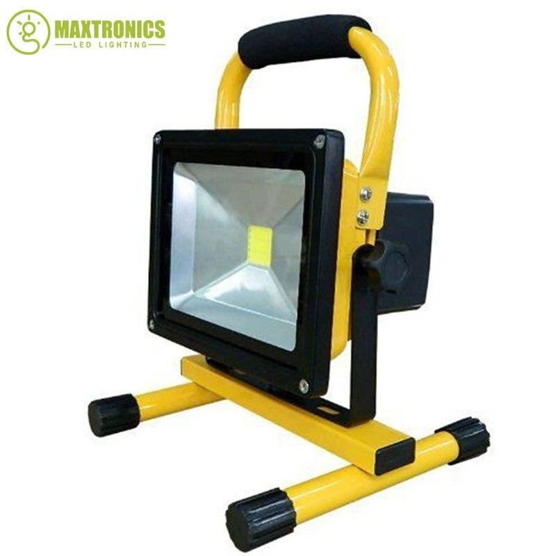 30 w rechargeable mené l'éclairage d'inondation rechargeable Led d'urgence lampe Projecteur Portatif batterie alimenté led spot lampe