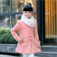 Chaqueta para niñas adolescentes 2019 Otoño Invierno chaquetas de lana para niñas abrigo para niños ropa femenina para el aire libre chaquetas para niños 4-12 años