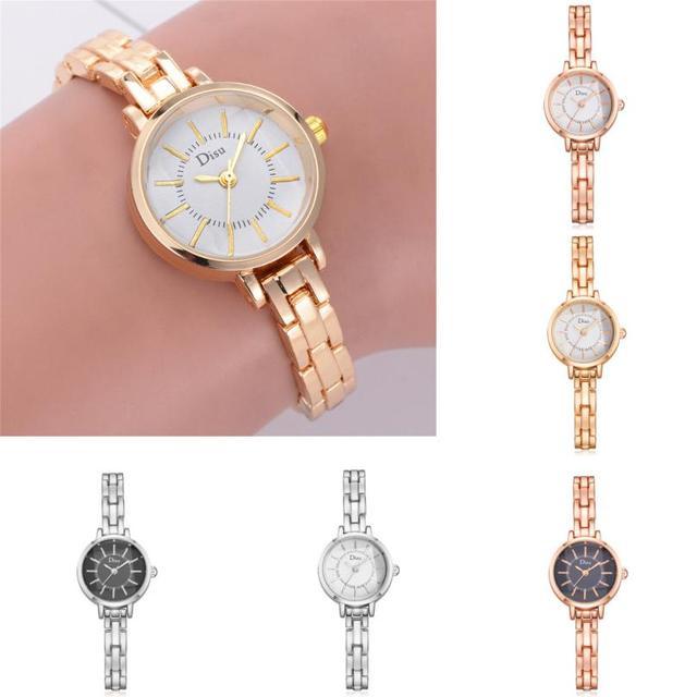 ose Gold Plated Women's Elegant Rhinestone Bracelet Quartz Watch Fashion Ladies