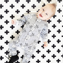 TinyPeople Baby Rompers Sika deer Print Cotton onesie Newborn Boy Romper Girls Clothes Infant Baby Clothing Long Sleeve Jumpsuit picturesque childhood footie sleepwear newborn baby romper long sleeve cotton 0 12 months sheep star print baby romper boy