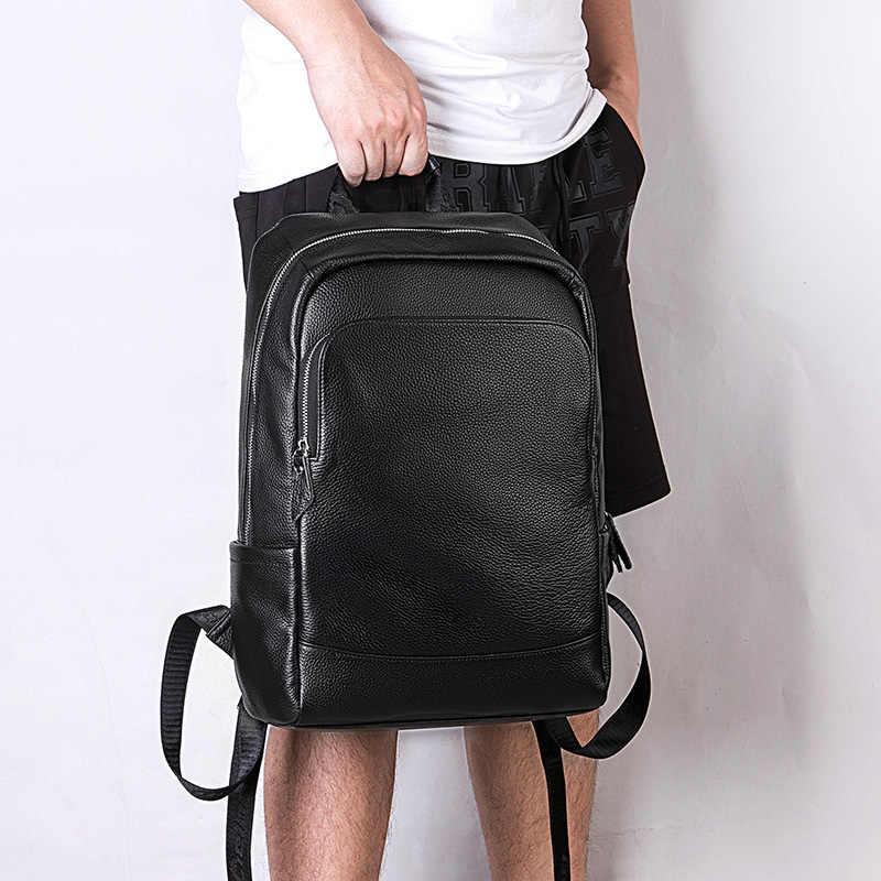 Мужской кожаный рюкзак LIELANG, модный молодежный рюкзак, дорожная сумка для компьютера