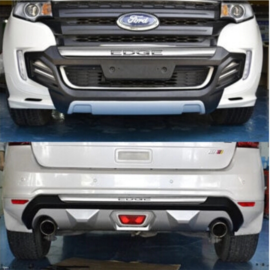 Pcs Suv Car Logo Abs Front Rear Bumper Protector Guard Skid Plate Fit For Ford