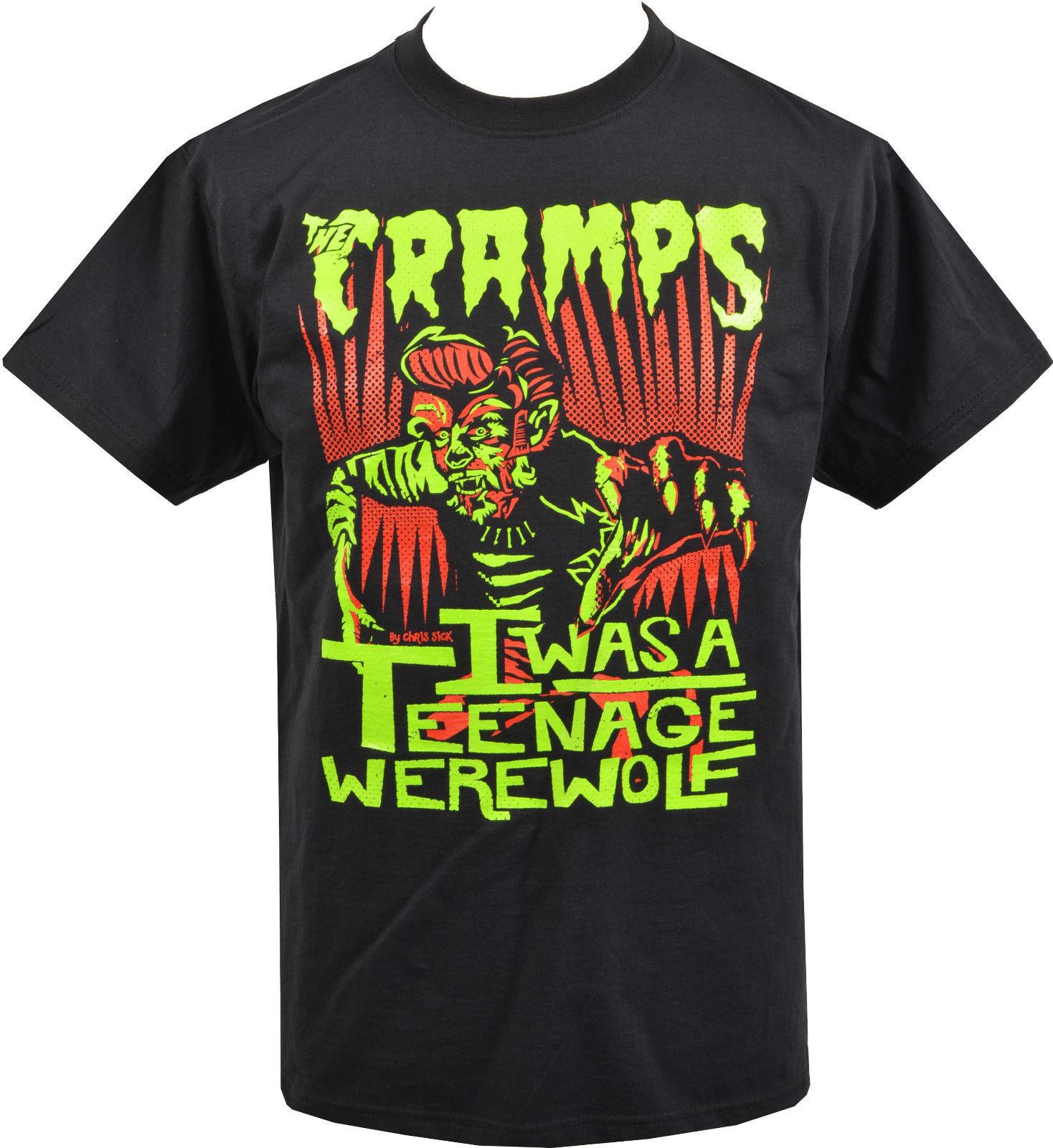 The Cramps T Shirts Graphic Printed Short Sleeve Man T-Shirts Black