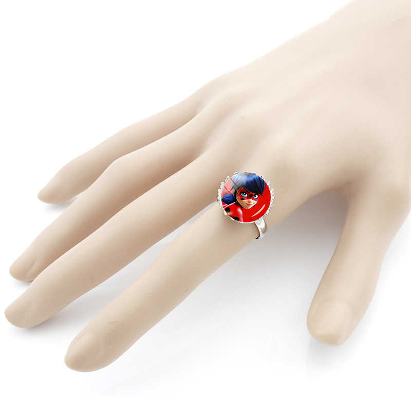 JWEIJIAO Vintage Ladybug Girl Rings For Kids Girls Fashion Ladybug and Cat Toy Crown Ring Birthday Gifts For Children LB93