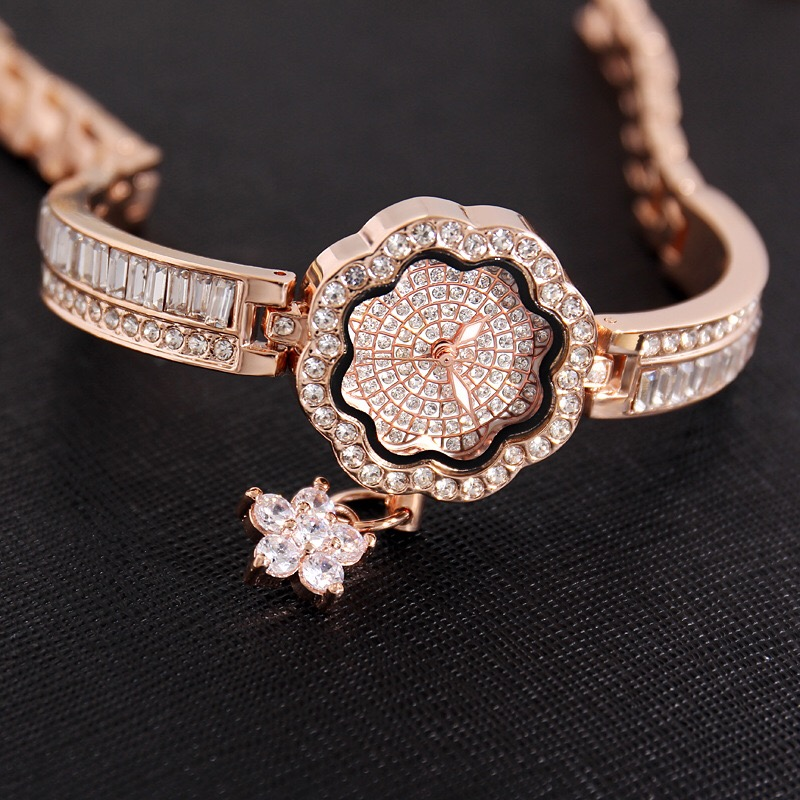 Cacaxi Elegant Jewelry Watch Women Crystal Ladies Luxury Dress Wristwatches Platinum 18K Gold Plated Clock Relogio Feminino Multan