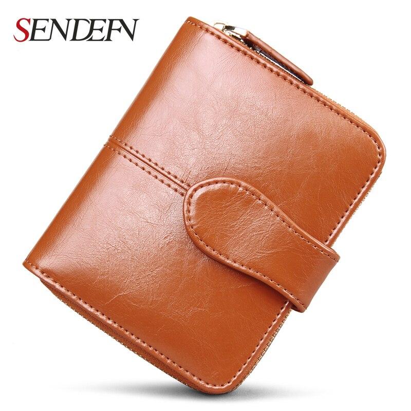 SENDEFN Short Female Leather Wallet Easys