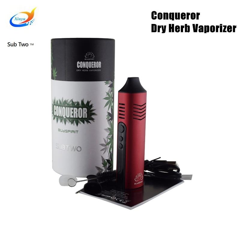 Conqueror Dry Herb Vaporizer 2200mah Battery Vape Pen Vaper Electronic Cigarette vape Kit vapor herbal vaporizer e cigarette 2015 e vape rainbow dry herb vaporizer