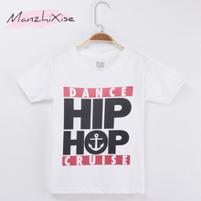 2019 Children Clothing Kids T-shirt Hiphop Street  Dance 100% Cotton Child Shirts Boy Short T Shirt Baby Clothes Girl Tops Tee