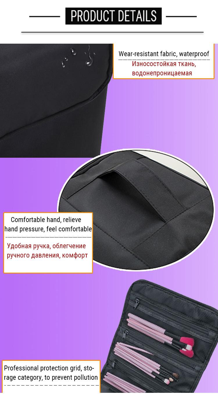HTB1KNSlaL2H8KJjy1zkq6xr7pXae - Fashion Women Makeup Organizer Large Capacity Multilayer Clapboard Cosmetic Bag Case