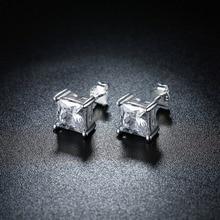 100% 925 Sterling Silver Earrings Fshion Small Earrings Cubic Zircon Stud Earring for Women Boucle Pendientes Mujer Earrings