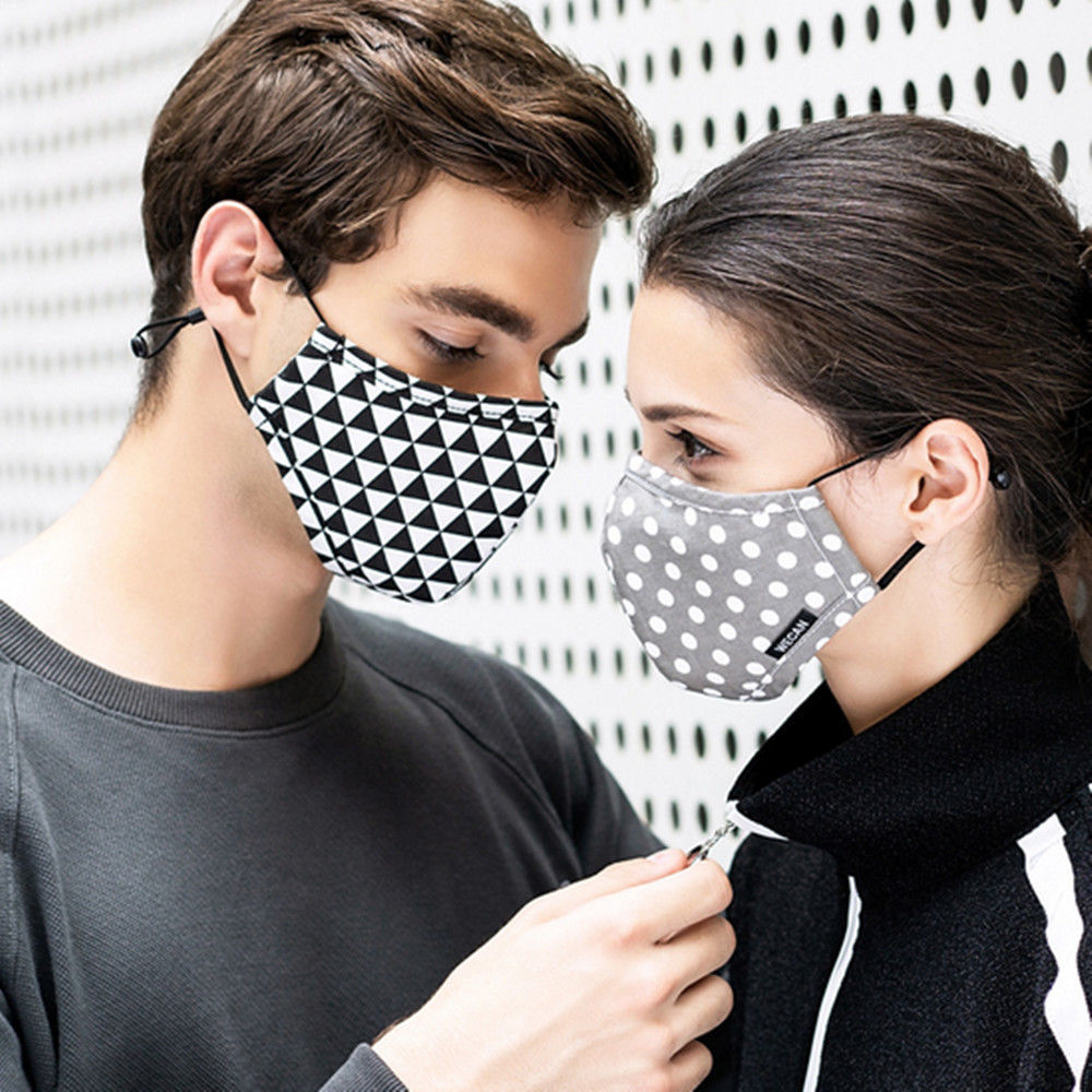 Fashion 100% Cotton Safety Anti-Dust Smog Proof Activated Carbon Charcoal Particulate Respirator Face Mask Universal