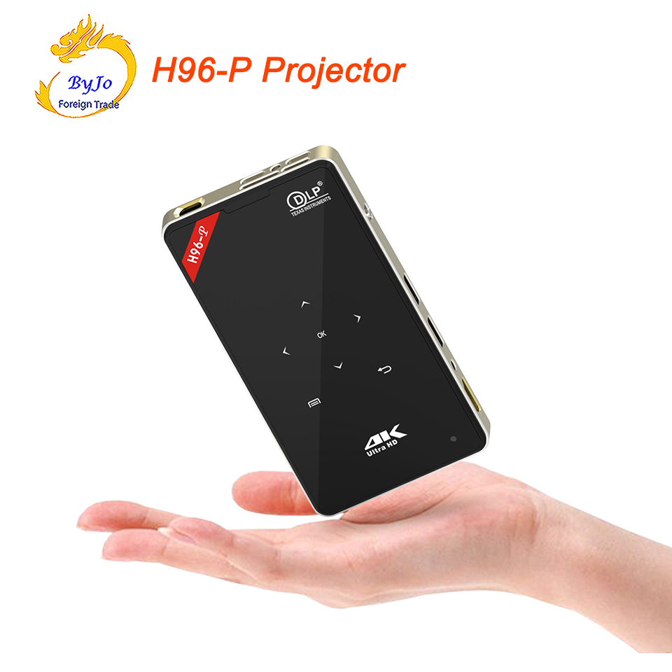H96-P Projector 2G 16G S905 Home theater projector Mini Portable pocket Projector DLP Projector Android proyector 32G SD gift
