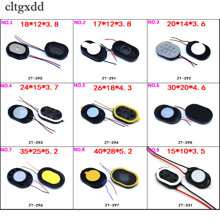 Cltgxdd Brand New Round Loudspeaker Buzzer Ringer Sound Speaker Replacement For Cell Phone With Two Line