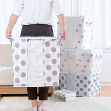 2019 New Organizer Moisture-proof Dot Clothes Big Bag Pillow Quilt Blanket Quilt Home Storage Box Organizador HOT SALE