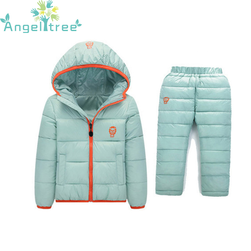 Children Set Boys Girl Clothing Sets Winter 1-7 Year  Down Jacket + Trousers Waterproof Snow Warm kids Clothes Suit 2PC JSB320 2 pcs children set baby boys girls clothing sets winter hooded down jackets trousers waterproof thick warm kids outerwear xl242