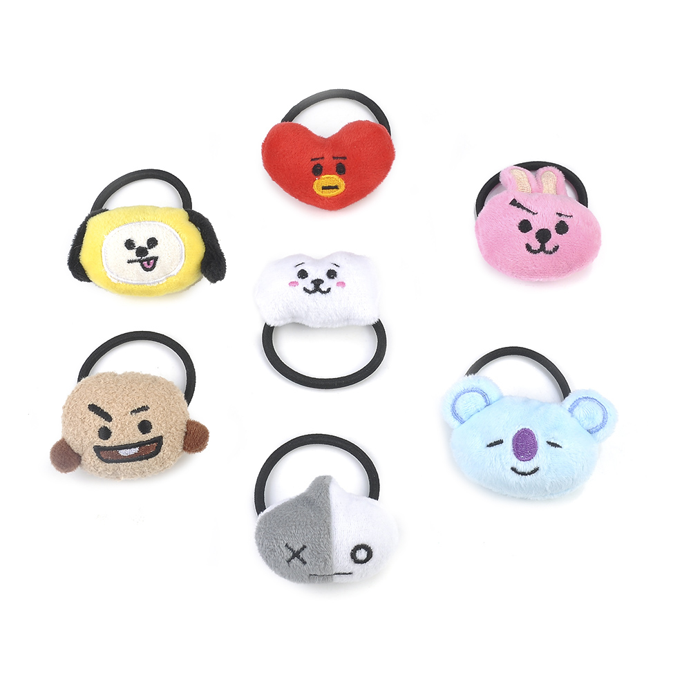 Apparel Accessories 1 Piece Kpop Bts Bt21 Lovely Cartoon Animal Elastic Hair Bands For Girls Lady Ponytail Rubber Band Hair Ties Rope Accessories