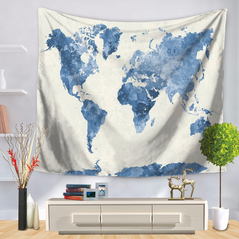 World Map Indian Tapestry Mandala Hippie Wall Hanging Tapestries Boho Bedspread Beach Towel Yoga Mat Blanket tenture murale
