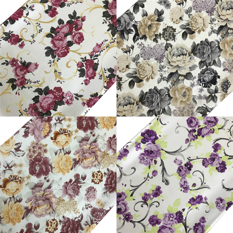 A4 Vintage Flower Fabric Artificial Synthetic Faux Leather Bows Bags Shoes DIY