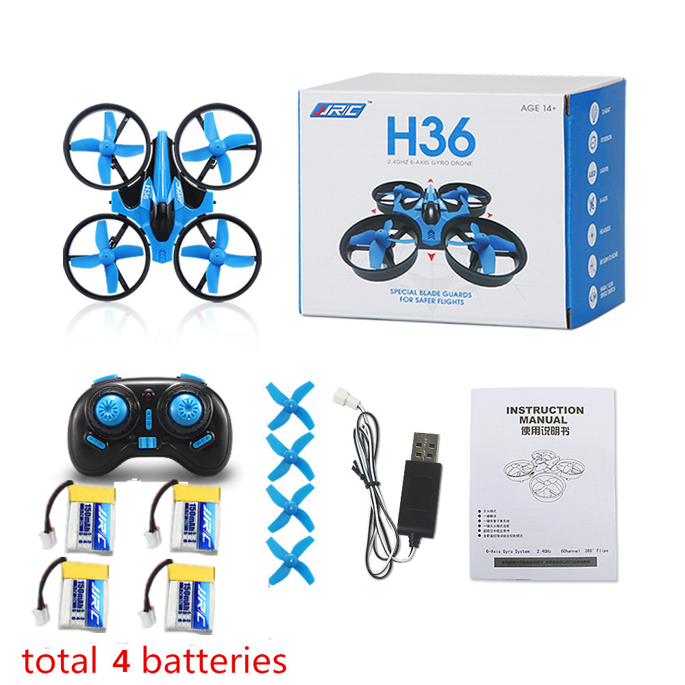 Newest Mini Drone JJRC H36 6 Axis RC Micro Quadcopters With Headless Mode Drones One Key Return RC Helicopter Vs JJRC H8 Dron(China)