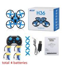 Новый mini drone jjrc h36 6 оси rc микро quadcopters с безголовый режим дроны одним из ключевых возвращения вертолет vs jjrc h8 дрон