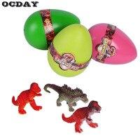 OCDAY 3 יחידות מצחיק רומן DIY צעצועי ביצי קסם דגירה גידול בקיעת ביצי דינוזאור T009 מתנת צעצועים חינוכיים לילדים ילד